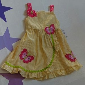 Emily Rose butterfly dress yellow pink